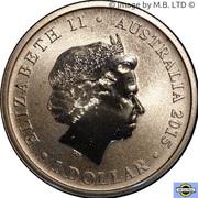 1 Dollar - Elizabeth II - (4th Portrait - Merry Christmas - Colourised) -  avers