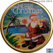 1 Dollar - Elizabeth II - (4th Portrait - Merry Christmas - Colourised) -  revers