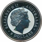 8 Dollars - Elizabeth II (4th Portrait - Year of the Rooster - Silver Bullion Coin) -  avers