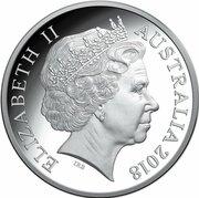 5 Dollars - Elizabeth II (4th Portrait - Winter Olympics Pyeongchang - Silver Proof) – avers