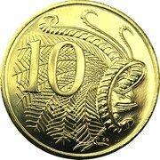 10 Cents - Elizabeth II (5th Portrait - Gottwald Proof Gold) -  revers