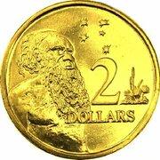 2 Dollars - Elizabeth II (5th Portrait - Gottwald Proof Gold) -  revers
