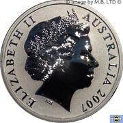 1 Dollar - Elizabeth II 4th Portrait - Kangaroo) -  avers
