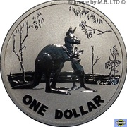 1 Dollar - Elizabeth II 4th Portrait - Kangaroo) -  revers