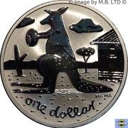 1 Dollar - Elizabeth II (4th Portrait - Mombassa Kangaroo) -  revers