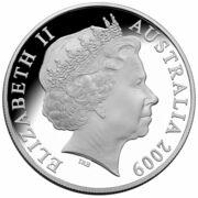 1 Dollar - Elizabeth II (4th Portrait - Harris Kangaroo - Silver Colourised Proof) -  avers