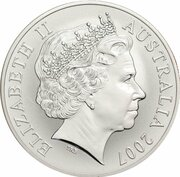 1 Dollar - Elizabeth II 4th Portrait - Rolf Harris Kangaroo - Silver -  avers