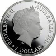 1 Dollar - Elizabeth II (4th Portrait - Australian Olympic Team - Silver Proof) – avers