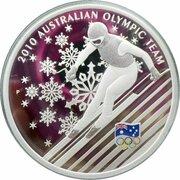 1 Dollar - Elizabeth II (4th Portrait - Australian Olympic Team - Silver Proof) – revers