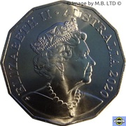 50 Cents - Elizabeth II (6th Portrait - Afghan Cameleers) – avers