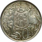 50 cents - Elizabeth II (Essai) -  revers