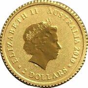 2 dollars Elizabeth II (4e effigie, kangourou miniature) -  avers