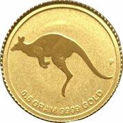 2 dollars Elizabeth II (4e effigie, kangourou miniature) -  revers