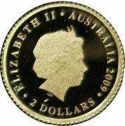 2 Dollars - Elizabeth II (4th Portrait - 2010 FIFA World Cup - Gold Proof) -  avers