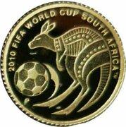 2 Dollars - Elizabeth II (4th Portrait - 2010 FIFA World Cup - Gold Proof) -  revers