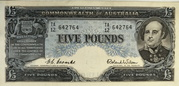 5 Pounds (Commonwealth Bank) – avers