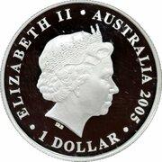 1 Dollar - Elizabeth II (Rotary Centenary) -  avers