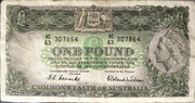 1 Pound (Commonwealth Bank) -  avers