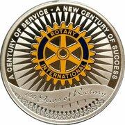 1 Dollar - Elizabeth II (Rotary Centenary) -  revers
