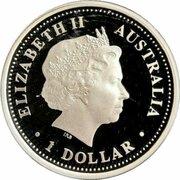 1 Dollar - Elizabeth II (4th Portrait - SAS 50th Anniversary - Silver Proof) -  avers