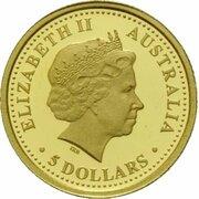 5 Dollars - Elizabeth II (4th Portrait - Sydney Opera Building) -  avers