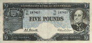 5 Pounds (Reserve Bank) – avers