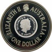 1 Dollar - Elizabeth II (4th Portrait - FIFA World Cup 2006 - Silver Proof) -  avers