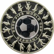 1 Dollar - Elizabeth II (4th Portrait - FIFA World Cup 2006 - Silver Proof) -  revers