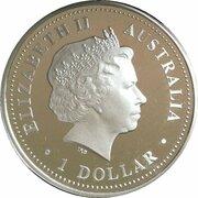 1 Dollar - Elizabeth II (4th Portrait - Sydney Harbour Bridge, Silver Proof – avers