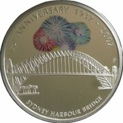 1 Dollar - Elizabeth II (4th Portrait - Sydney Harbour Bridge, Silver Proof – revers