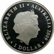 1 Dollar - Elizabeth II (4th Portrait - World Masters Games - Silver Proof) – avers