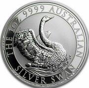 1 Dollar -Elizabeth II (6th Portrait - Australian Silver Swan) -  avers