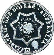 1 Dollar - Elizabeth II (4th Portrait - Federation State Tribute - Silver Proof) -  avers