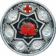 1 Dollar - Elizabeth II (4th Portrait - Federation State Tribute - Silver Proof) -  revers