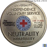 1 dollar Croix Rouge australienne – revers