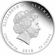 50 Cents - Elizabeth II (4th Portrait - 1918 Return to the Family) – avers