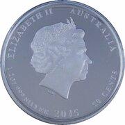 50 Cents - Elizabeth II (4th Portrait - Snugglepot & Cuddlepie™) -  avers