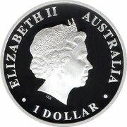 1 Dollar - Elizabeth II (4th Portrait - Discover Australia - Bellfrog -  avers