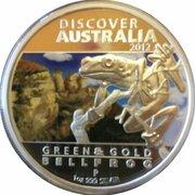 1 Dollar - Elizabeth II (4th Portrait - Discover Australia - Bellfrog -  revers