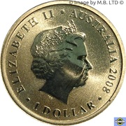 1 Dollar (Elizabeth II 4th portrait; Palm Cockatoo) -  avers