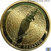1 Dollar (Elizabeth II 4th portrait; Palm Cockatoo) -  revers