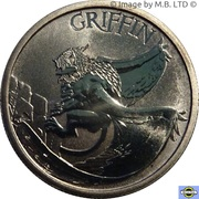 1 Dollar - Elizabeth II (4th Portrait - Griffin) -  revers