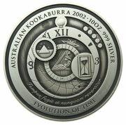 Evolution of Time - Silver Bullion Coin -  revers