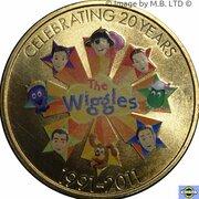 1 Dollar - Elizabeth II (4th Portrait - Wiggles - Band & Friends) -  revers