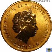 1 Dollar - Elizabeth II (4th Portrait - Wiggles - Band & Friends) -  avers