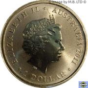 1 Dollar - Elizabeth II (4e portrait; Dame Nellie Melba) -  avers