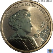 1 Dollar - Elizabeth II (4e portrait; Dame Nellie Melba) -  revers