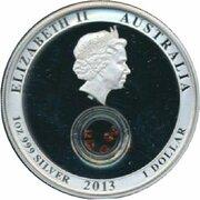 1 Dollar - Elizabeth II (4th Portrait - Treasures of the World - Silver Proof) -  avers