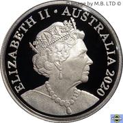 20 Cents - Elizabeth II 6th portrait - Fine Silver Proof -  avers