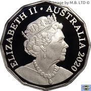 50 Cents - Elizabeth II (6th Portrait - Silver Proof) -  avers